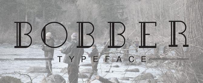Bobber Typeface 670 10 fuentes molonas en descarga gratuita