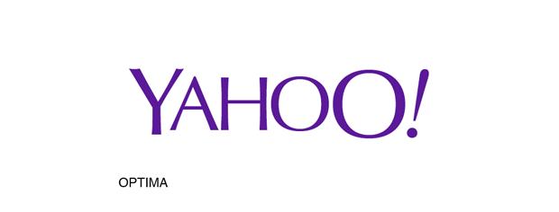 Yahoo! con tipografía Optima