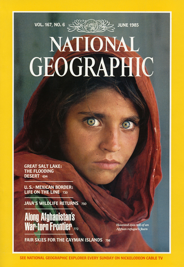 Centro Niemeyer, expo National Geographic portada con niña afgana de Steve McCurry