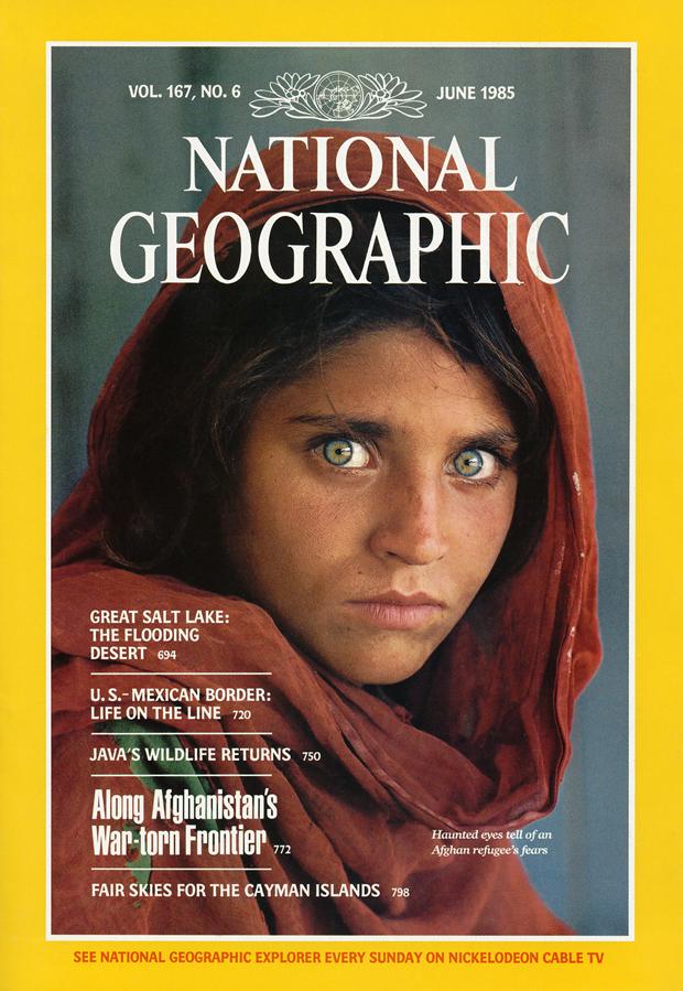 Centro Niemeyer, expo National Geographic portada con niña afgana de Steve McCurry