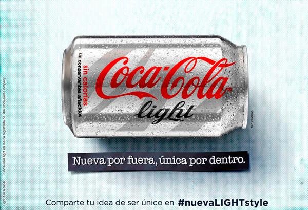 Coca Cola light estrena diseño y campaña