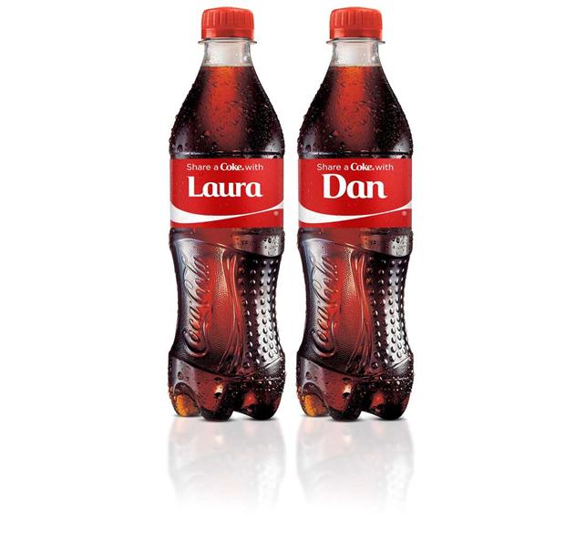Campaña 'Share a Coke' de Coca-Cola