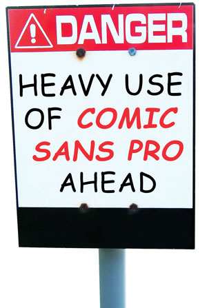 ComicSans Sign April Fools Day: Pon Helvetica en Google