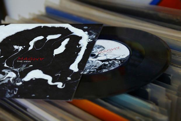 Dvein, portada del vinilo Magma para la banda The Vein
