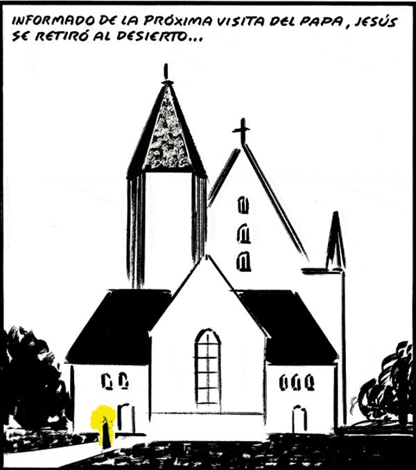 El Roto, viñeta visita del Papa