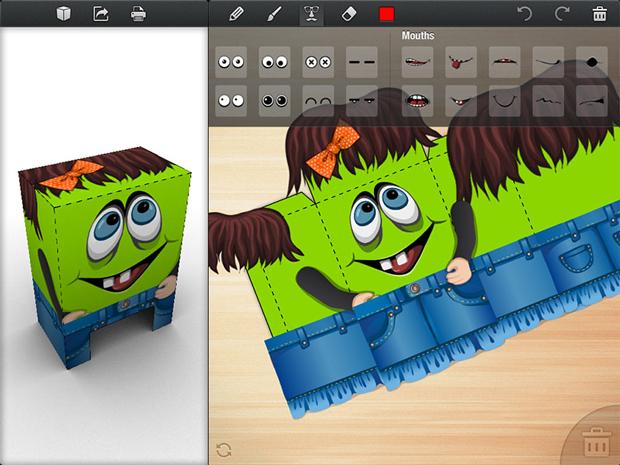 Diseña, imprime y dobla tus propios paper-toys desde tu iPad