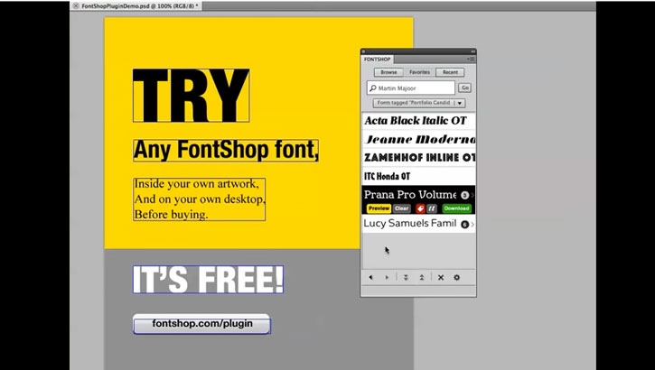 FontShop lanza un plugin para Photoshop, Illustrator e InDesign