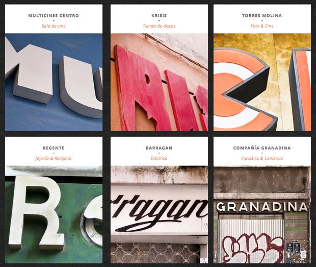 Garnata Type, recuperando los rótulos en la ciudad de Granada