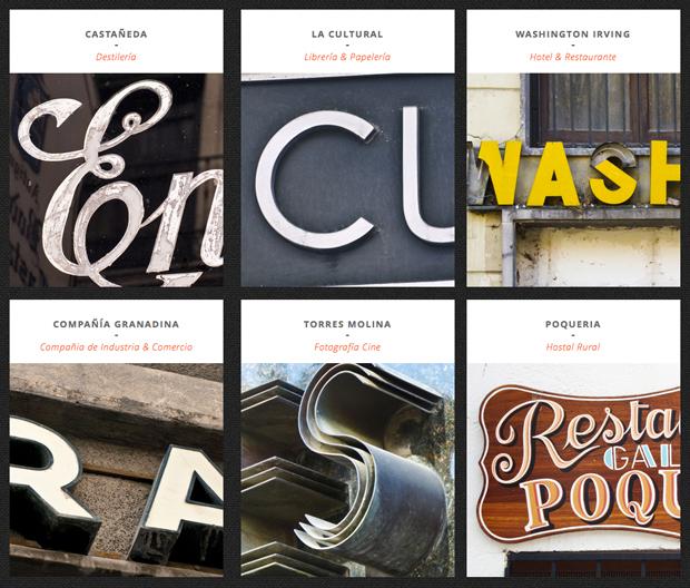 Garnata Type nos invita a observar el arte de la rotulación