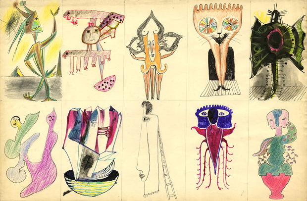 Victor Brauner, Dessins collectifs
