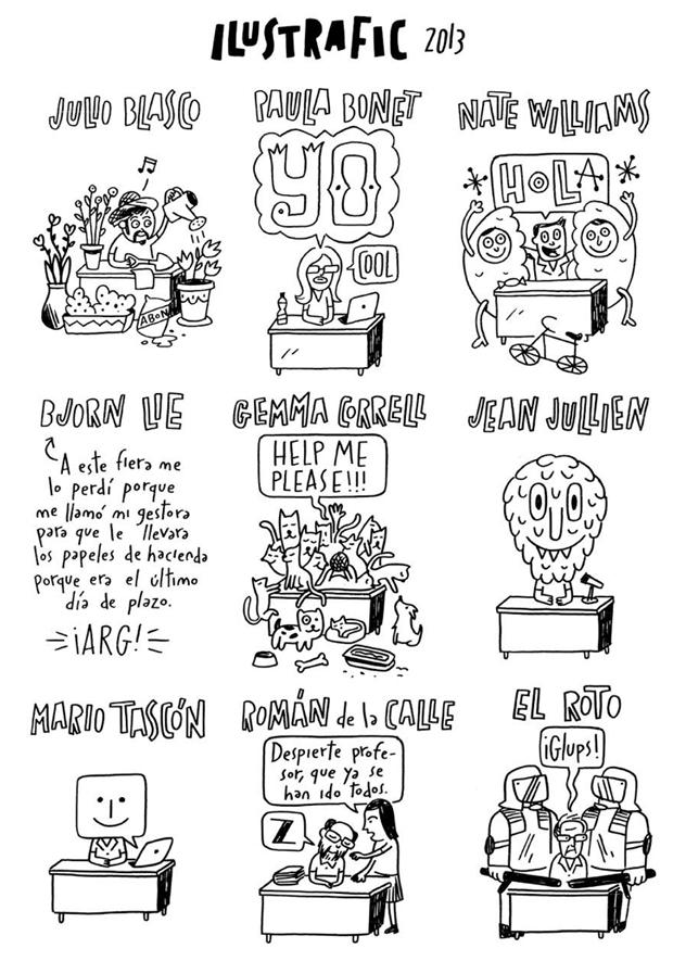 Ilustrafic, ilustración crónica Luis Demano