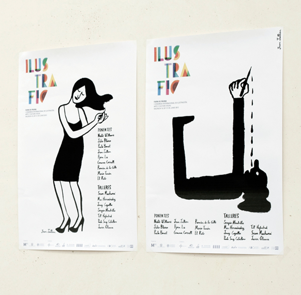 Jean Jullien, carteles de Ilustrafic