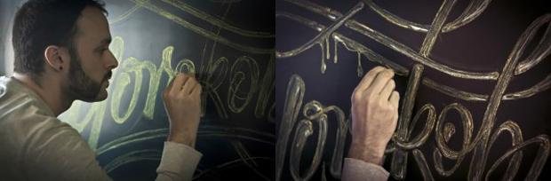 Joluvian, lettering