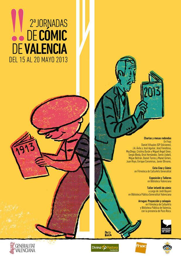 Cartel de las II Jornadas de Cómic de Valencia