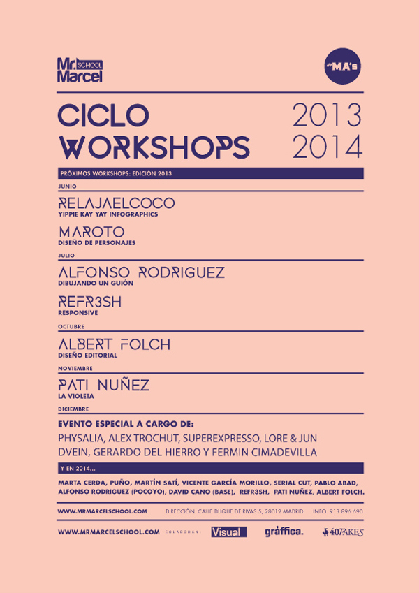 MrMarcel School Cartel workshops