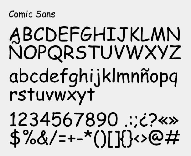 Muestra-Comic-Sans