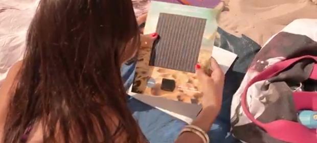 Nivea Solar, encarte promo para cargar los móviles en la playa