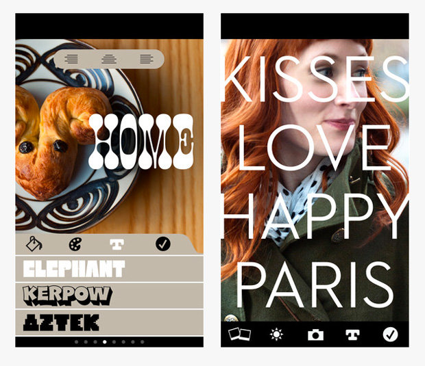 App Photolettering, de House Industries
