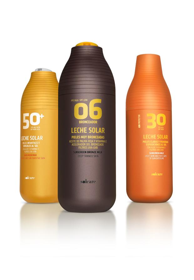 Solcare, packaging diseño de Lavernia línea de productos para Mercadona