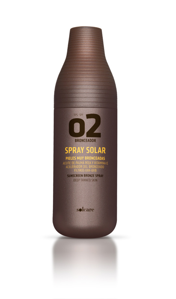 Solcare, packaging diseño de Lavernia para bronceador solar