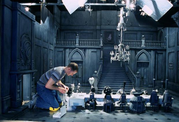 Tim Allen prepara un set de stop-motion