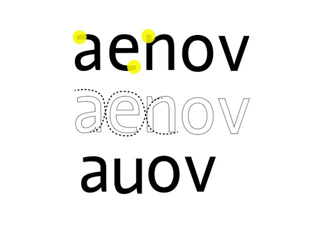 Verita, tipografía flujo