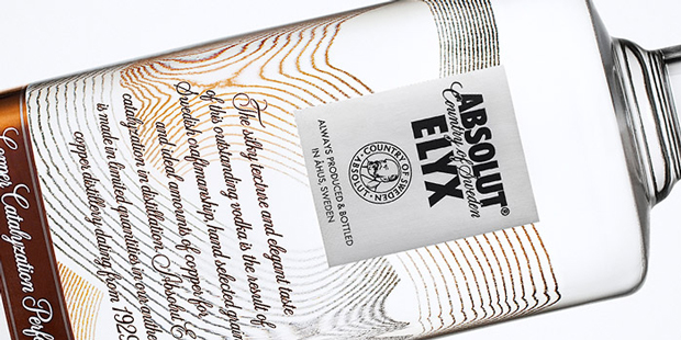 Absolut Elyx, botella en horizontal