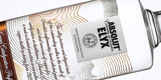 Absolut Elyx, botella en horizontal