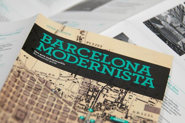 Barcelona Modernista, mapa gráfico del modernismo