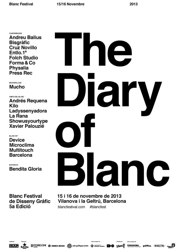 Blanc 2013, cartel