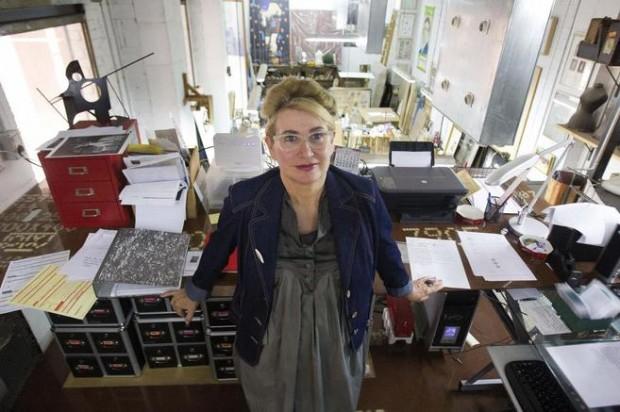 Carmen Calvo en su estudio de Valencia