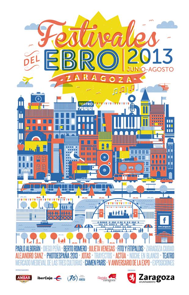 Nuevo cartel Festivales del Ebro 2013