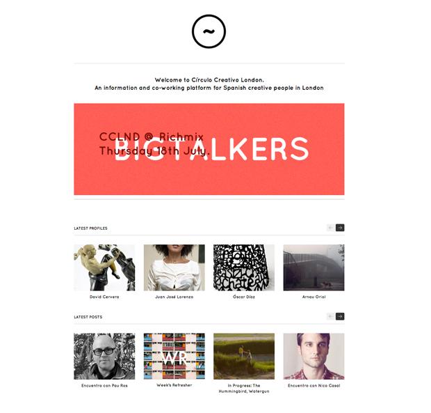 Círculo Creativo London, home página web