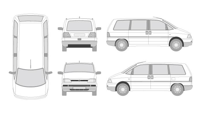 vehículos en formato vectorial