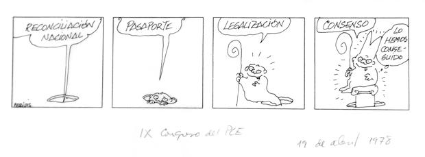 Tira de humor gráfico político del dibujante Peridis