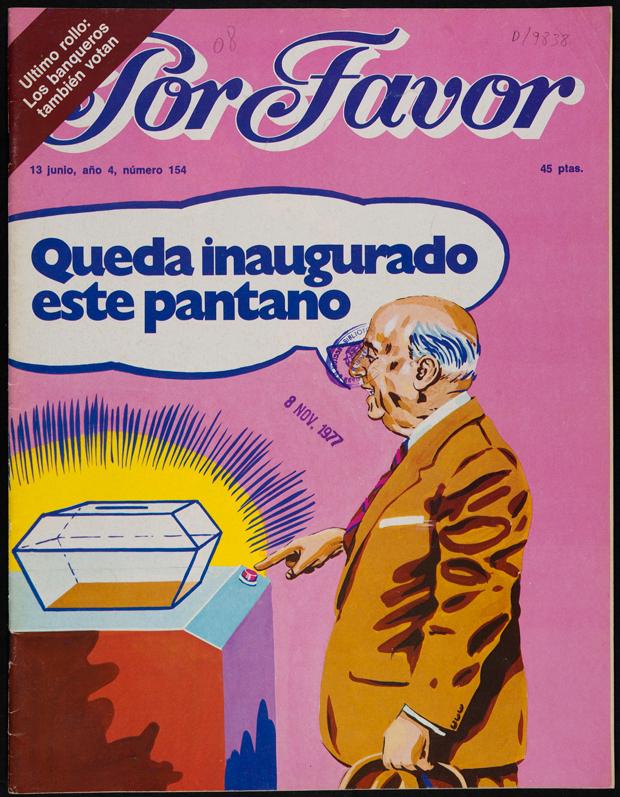 humor gráfico, portada con Franco de la revista Por Favor