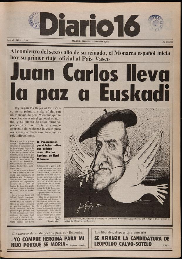 Viñeta con caricatura del Rey Juan Carlos firmada por Gallego