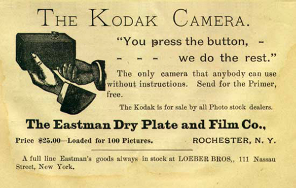 Kodak, eslogan 'you press the button...'