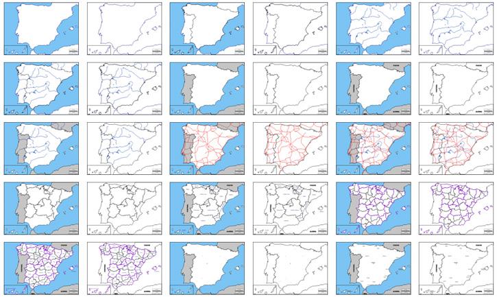 mapas 725 Mapas de España vectoriales gratuitos