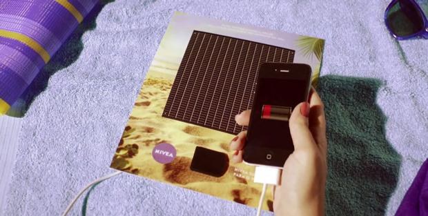 nivea Nivea recarga tu móvil con un anuncio impreso
