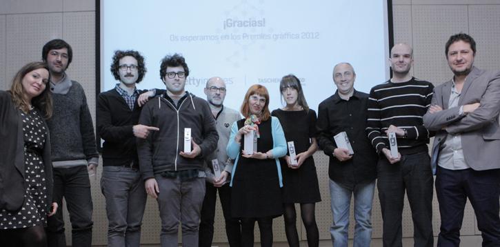 premiados Entrega Premios gràffica 2011: «Es una gran sorpresa recibir un premio al que no te has presentado»