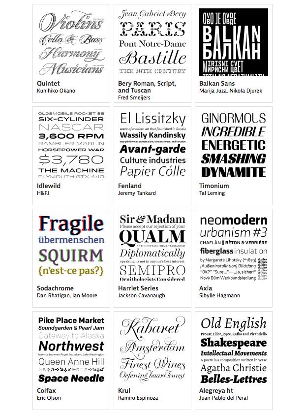 Las mejores tipografías de 2012 según Typographica