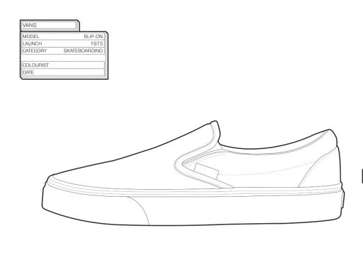 The sneaker coloring book', zapatillas retro para colorear tus ...
