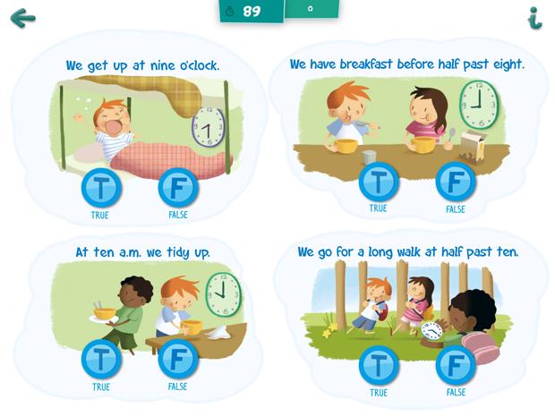 Play with English, ilustraciones de la app para aprender inglés