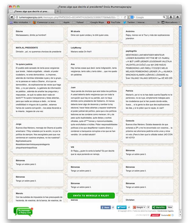tumensajearajoy, app de mensajes directos al presidente Rajoy