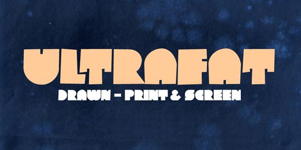 Ultrafat, tipografía de Tipo Pepel