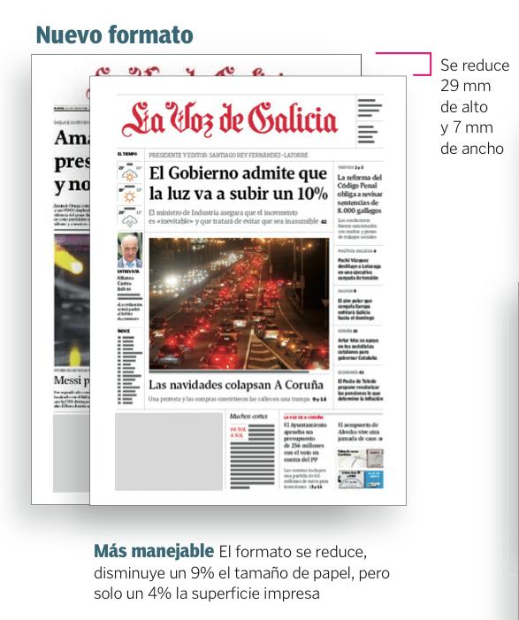 nuevo formato la voz de galicia